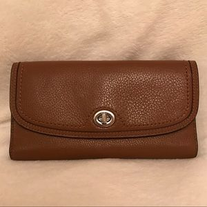Coach Tan Wallet with Checkbook